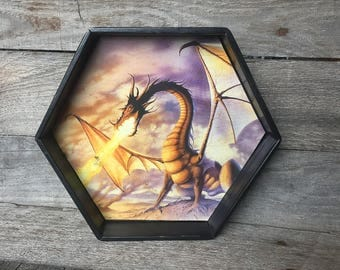 Dice Tray - D&D, RPG, Dice Games, Hexagon