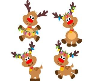 Reindeer svg, christmas svg, svg reindeer, svg christmas, christmas lights, lights christmas, rudolph svg, svg rudolph, santa svg, svg santa