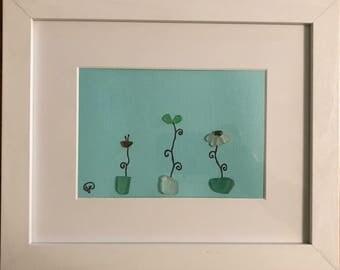 Sea Glass Flowers