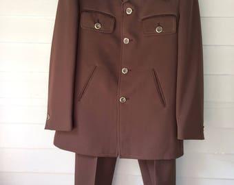 Leisure Suit Brown Vintage 70's