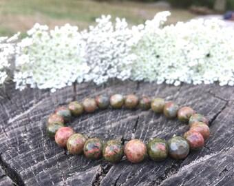 Unakite bracelet for healing