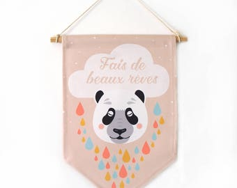 Decorative banners, panda, bab'ys room, decoration, nursery decor