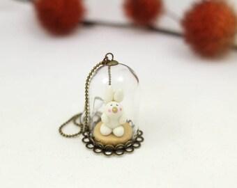 "Small bubble of Nature ""Rabbit"" cold porcelain"