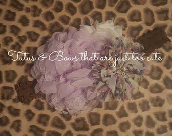 Lavender and light purple floral headband