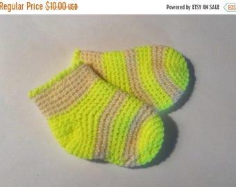 saving Knitted Socks for kids, warm socks, baby socks, warm gift, crocheted socks lemon and milky