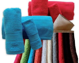 Top Quality Bath Towels 500gsm Ref. Aqua – 3-4 Pieces Set - Bath Towel, Hand Towel, Guest Towel – Various Colors