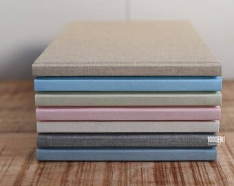 Guest book - linen - personalized with letterpress - Gästebuch