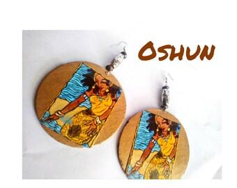 Oshun Orisha Orisa Ocha Orixa beaded african earrings