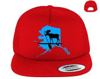 Alaska Moose on SUP Trucker Hat