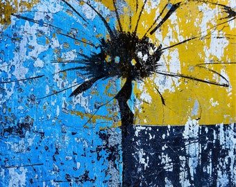 Abstract Flower Painting Daisy Graffiti Art Vivid Colors Digital Print, Printable, Decor 10x8 Digital Download Digital Prints
