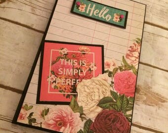 Premade Floral Photo Folio/Mini Album/Scrapbook/Photo Album
