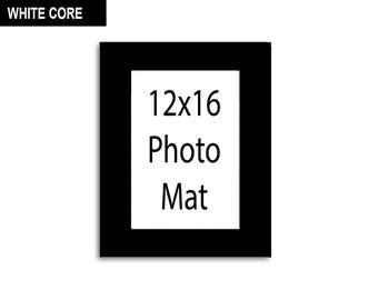 Multiple Colors - Any Opening Size - 12x16 Photo Mat (WHITE CORE)