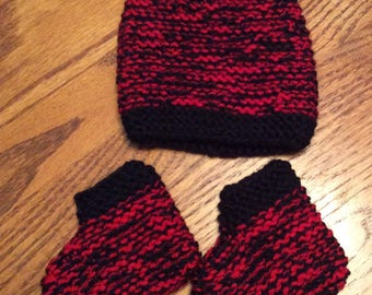 Little lumberjack hat and booties