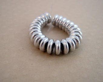 Set of 25 6 mm Silver - 0259 CBR6 glass rondelles