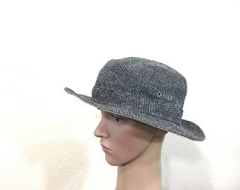 80's vintage wool bucket hat made in usa size 7