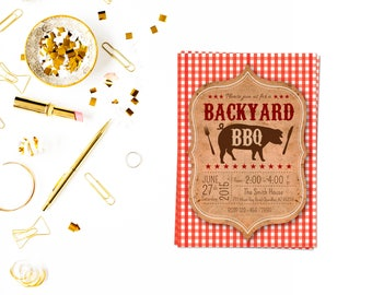 Bbq Party Invite 3,BBQ Photo Invitation,BBQ Invitation, Picnic Invitation , Picnic party, BBQ party,Backyard bbq Invitation,Barbecue Invite