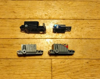 Lot of 4 Various Lego Pullback Motors for Vehicles, 3 Styles 47715c01, 32283c01, 41861c01, Excellent Condition