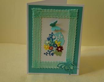 Handmade card, floral card, greeting card