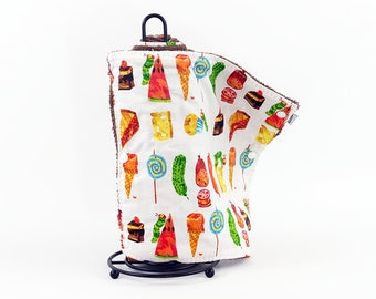 Hungry Hungry Caterpillar Un-paper towel, paperless towels, reusable towels, unpaper towels, hippie towels, eco-friendly product, reusable