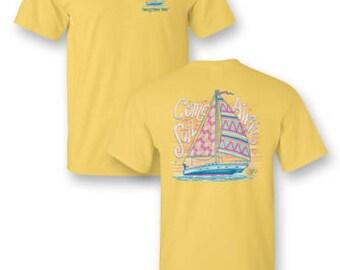 "Sassy Frass ""Sail Away"" Short Sleeve Tee"
