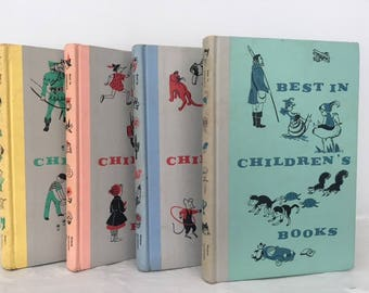 Vintage 1960's 'Best in Children's Books' book set, Decorative Children's Books, Classic Children's Story Books