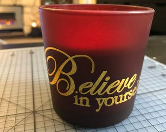 Personalized Candle Believe in yourself