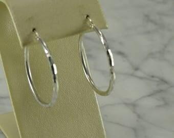 Sterling Silver Hoops (pierced)