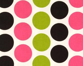 Premier Prints Fabric | Fancy Dot Dot Fabric | Designer Fabric | Upholstery Fabric | green fabric | Fabric by the yard | pink dot fabric