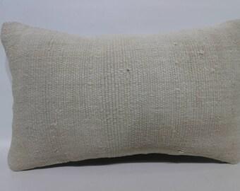 12x20 Decorative Kilim Pillow Sofa Pillow Cream Kilim Pillow 12x20 Lumbar Kilim Pillow Anatolian Kilim Pillow Cushion Cover SP3050-1765