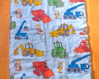 Vintage Bob The Builder Sleeping Bag or Crib Blanket Bedspread Comforter Throw Bedding 90s Kid Kidcore Toywave Classic 1990 Cartoons TV show