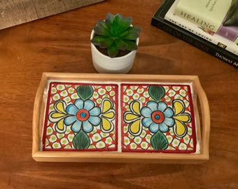 talavera tile tray mexican tile bathroom decor gift for mom vanity tray