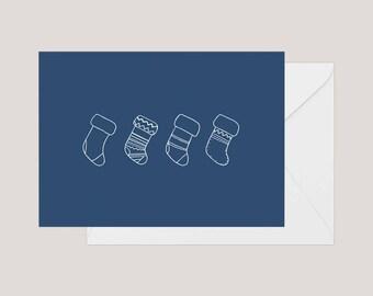 Printable Christmas Card | Greeting Card | Holiday Card | | Xmas Card | A2 Card | Minimilist Christmas Card | Cute Christmas Card