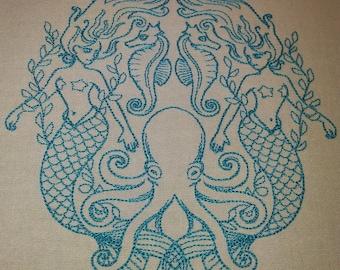 Mermaid Beauty Flour Sack Towels