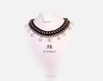 Necklace with baroque pearls - bridal - wedding jewelry