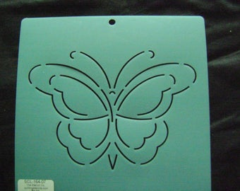 Sashiko Japanese Embroidery Stencil 7 in. Butterfly Motif Block/Quilting