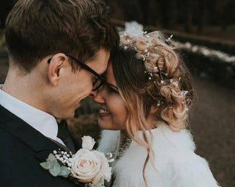 Long hair vine, wedding hair vine, wedding hair accessory, hair vine, pearl hair vine, bridal tiara, pearl hair accessory, crystal hair vine