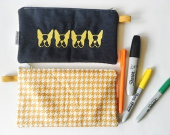 Ready / pencil case / boston terrier / pencil case / dog / unisex gift / unisex gift