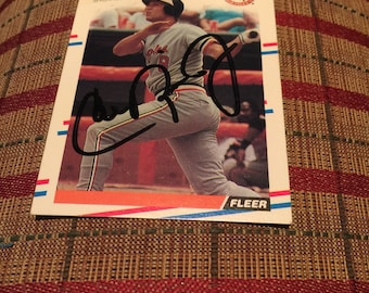 Cal Ripken Jr. Signed baseball card Baltimore Orioles 1988 Fleer