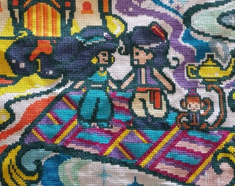 Aladdin Cross Stitch! Finished.