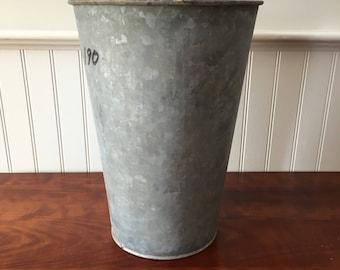 Vintage Sap Bucket Sap Buckets Vermont Galvanized Sap Buckets Garden Planter Galvanized Bucket Maple Sap Bucket Industrial Buckets