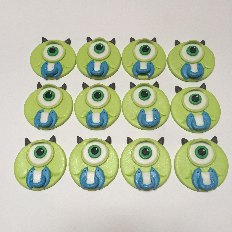 Monsters Inc Mike Wazowski Baby Shower Cupcake