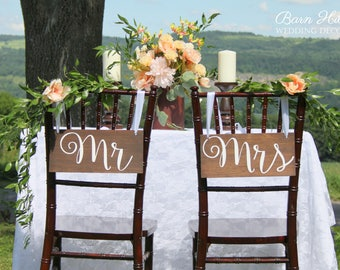 mr & mrs wood signs, wedding chair signs, wooden hanging signs, wedding signs, rustic wedding signs