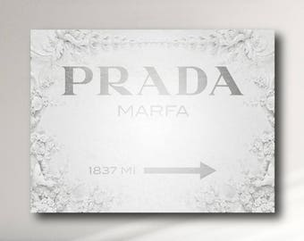 Prada Marfa Vintage Canvas Print - Gossip Girl