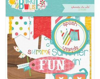 Photo Play Paper Summer Bucket List Collection Scrapbook Ephemera Die Cuts