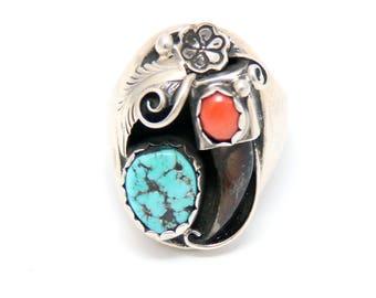 Bear Claw Navajo Ring | Size 11