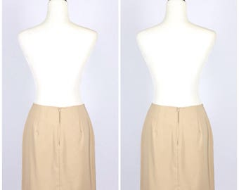 VTG 90's High Waist Tan Skirt