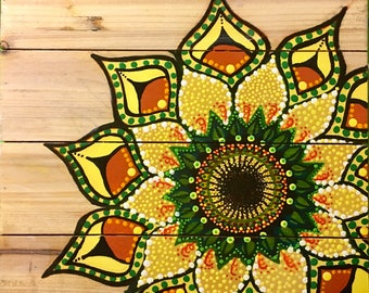 Mandala Sunflower wall art
