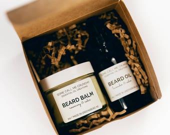 Beard Care Gift Box ~ Beard Balm & Beard Oil