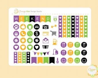 Halloween Sampler Kit, Halloween Weekly Kit Sampler, Halloween Planner Stickers, Erin Condren Life Planner, Happy Planner, Plum Paper