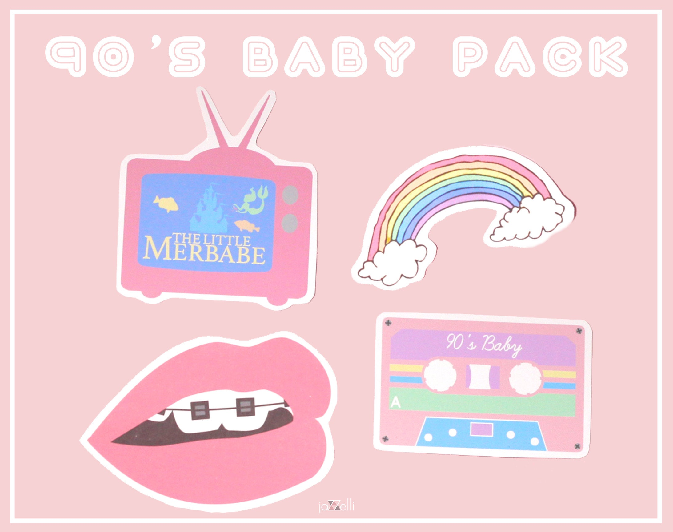 Rainbow Stickers For Walls 90 S Baby Sticker Pack Cute Stickers Tumblr Stickers